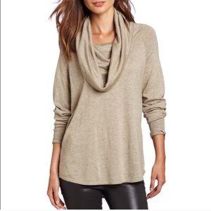 Joie Wesley Tan Cowlneck Sweater